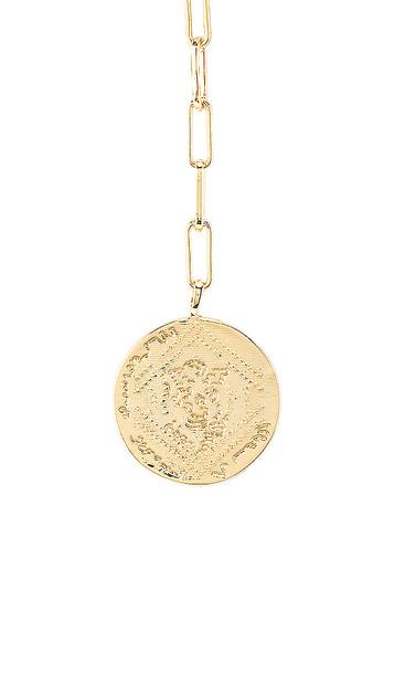 gorjana Ana Coin Lariat Necklace in Metallic Gold