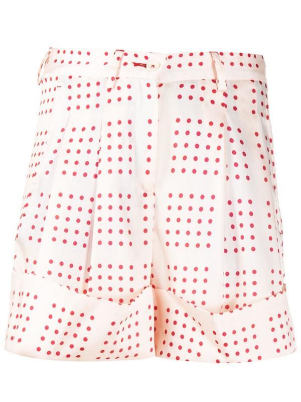 Jejia polka-dot tailored shorts in pink