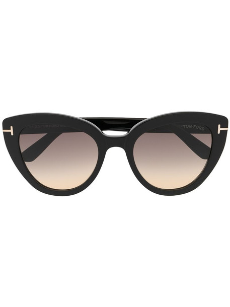 Tom Ford Eyewear cat-eye frame sunglasses in black