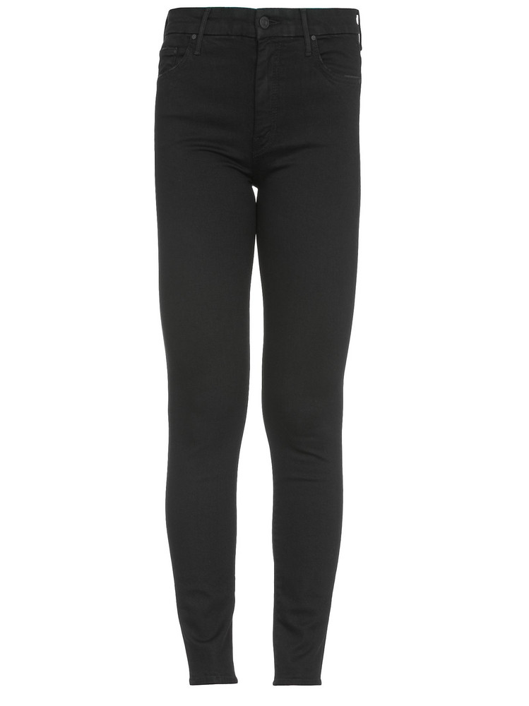 Mother High Waisted Looker Jeans in black