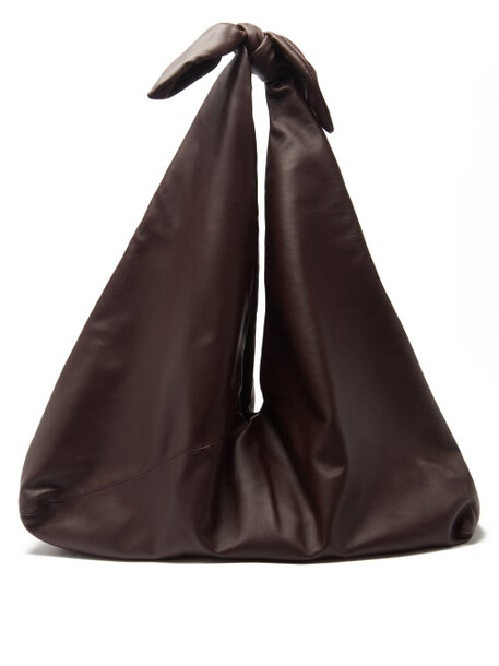Gabriela Hearst - Hildegard Knotted-strap Leather Tote Bag - Womens - Burgundy