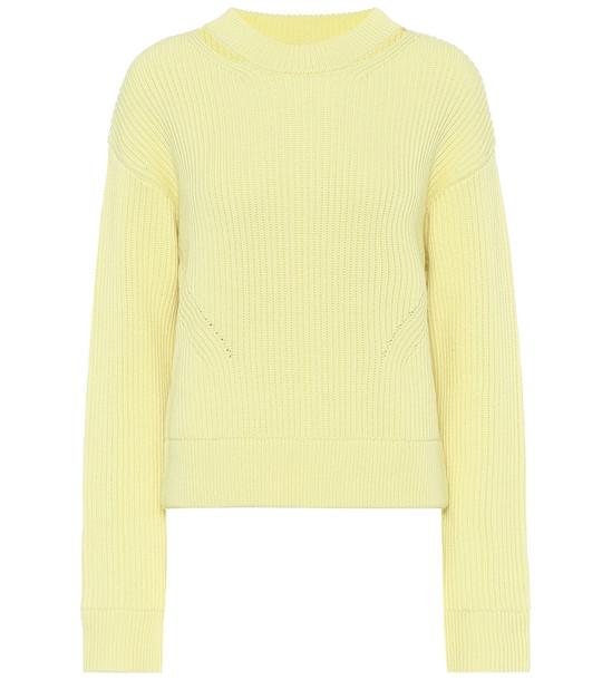 Proenza Schouler Cropped wool sweater in yellow