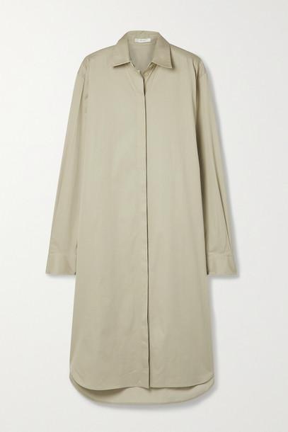 THE ROW - Sunny Cotton-poplin Midi Shirt Dress - Neutrals