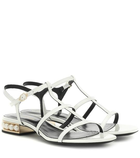 Nicholas Kirkwood Casati leather sandals in white