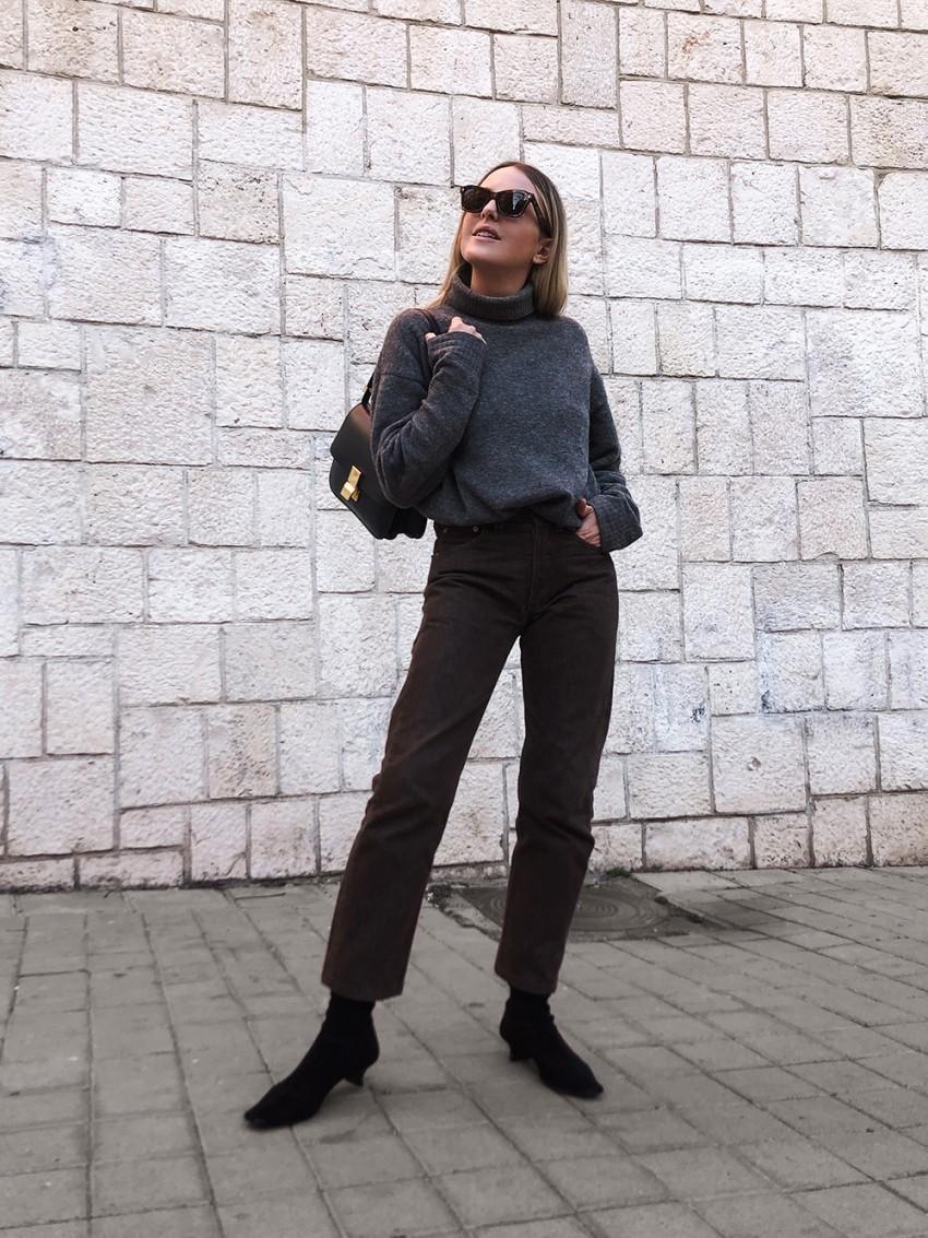 trini blogger sunglasses sweater jeans shoes bag