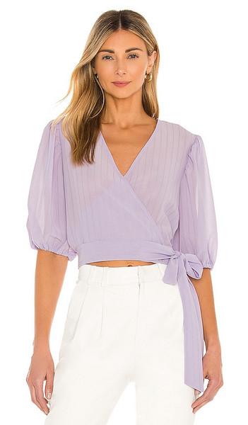 Bardot Isabella Wrap Top in Lavender in lilac