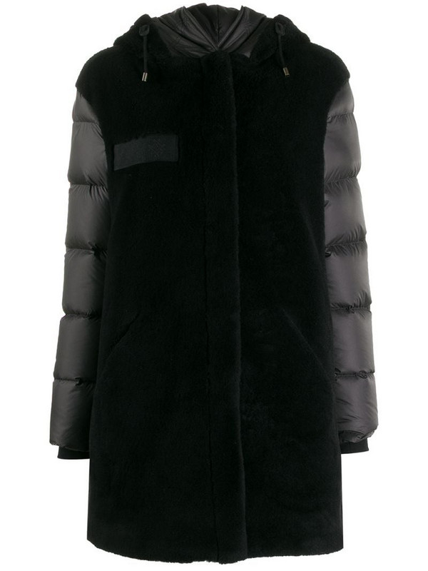 Mr & Mrs Italy faux-fur hooded jacket in black