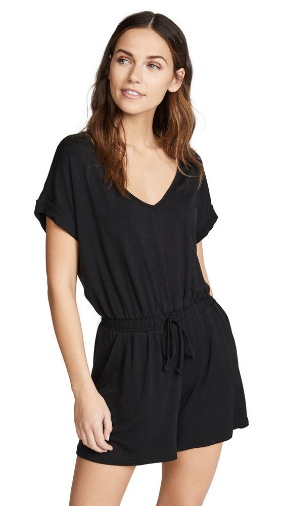Z Supply Blaire Sleek Jersey Romper in black