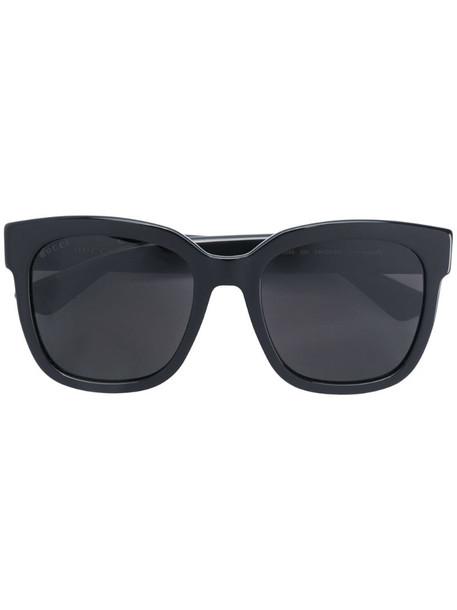 Gucci Eyewear interlocking GG square-frame sunglasses in black