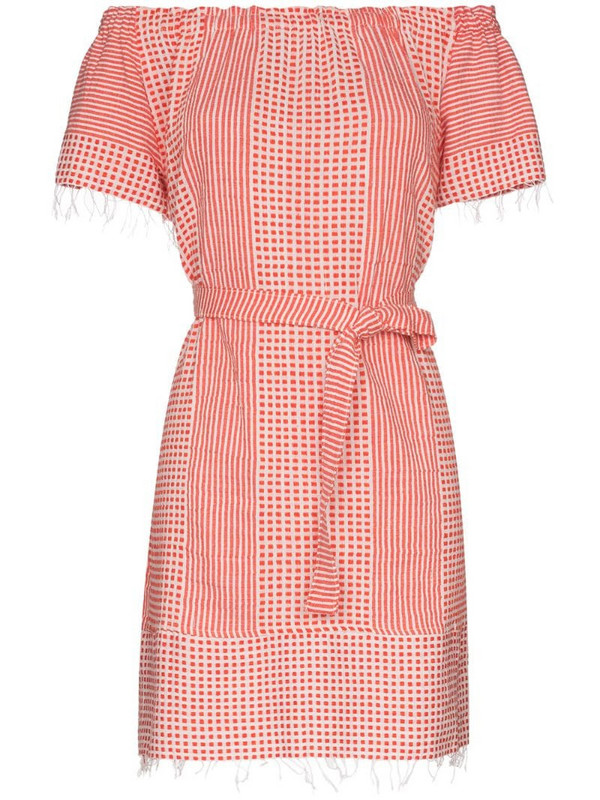 lemlem Semira off-the-shoulder printed dress in red