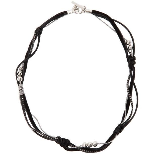 Saint Laurent Black Scarf Necklace