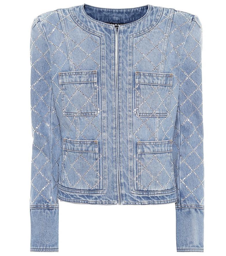 Balmain Embellished denim jacket in blue