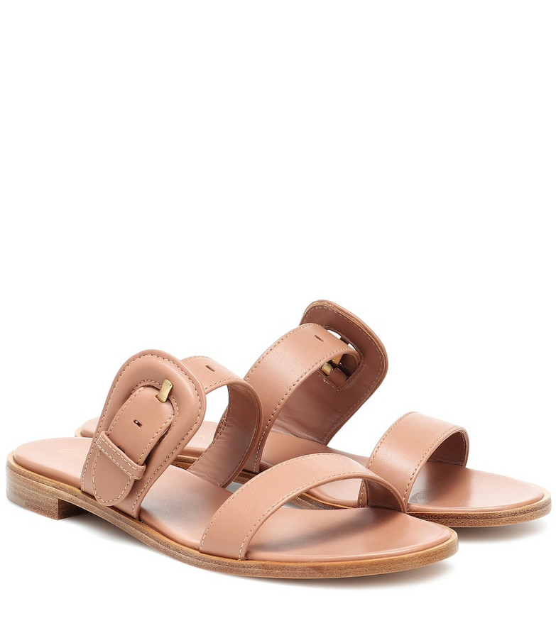 Gianvito Rossi Leather sandals in beige