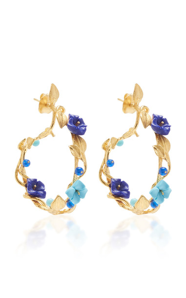 Of Rare Origin Mini Flower Whirl Earrings in blue
