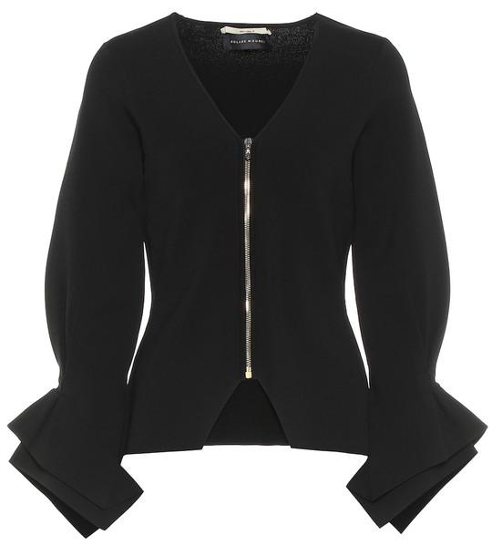 Roland Mouret Positano knit jacket in black