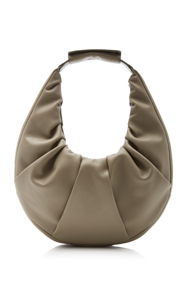 Staud Soft Leather Moon Bag in grey