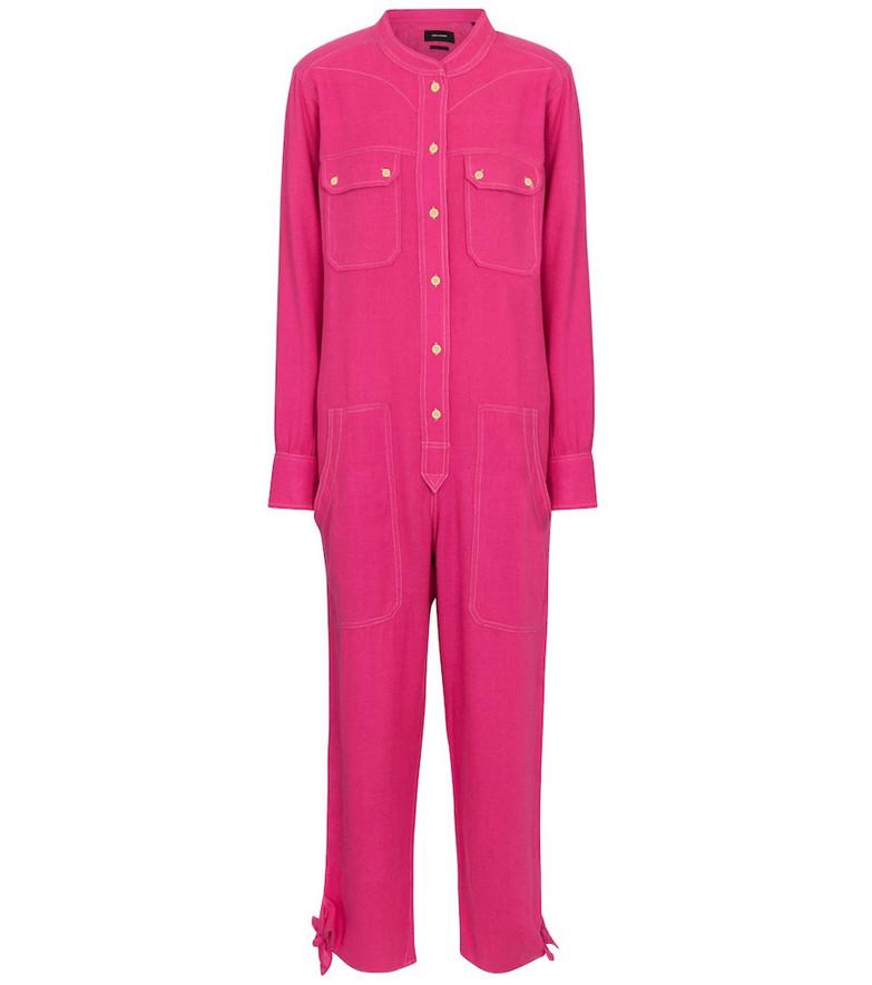 Isabel Marant, Étoile Tacaia silk-twill jumpsuit in pink