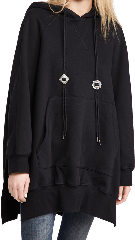 R13 Oversized Hoodie Cape in black