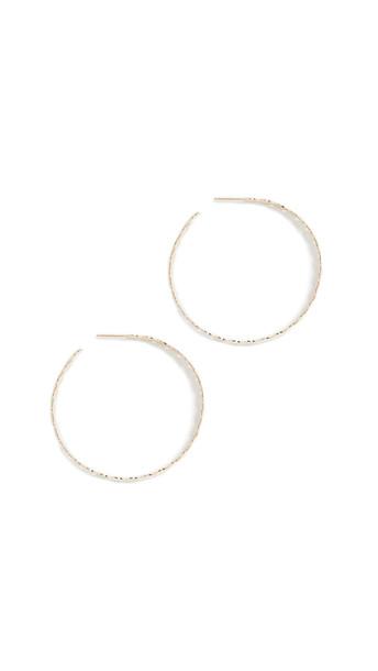 Jennifer Zeuner Jewelry Bianca Hoop Earrings in gold / silver