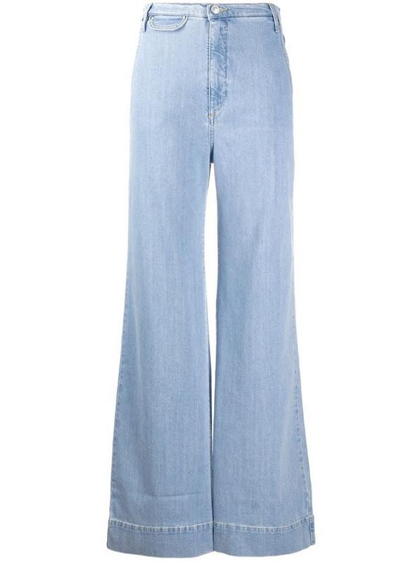 Katharine Hamnett London high rise flared jeans in blue