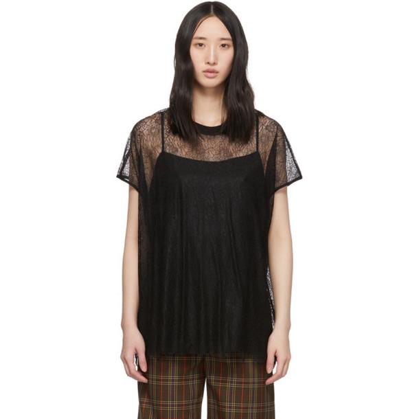 McQ Alexander McQueen Black Lace Blouse