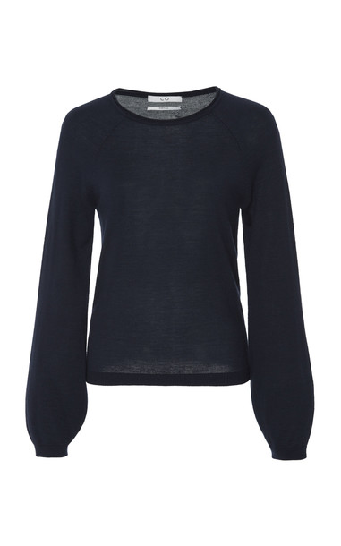 Co Cashmere Long Sleeve Sweater Size: S in navy