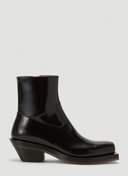 Ion Squared-Toe Cowboy Boots in Black size EU - 44