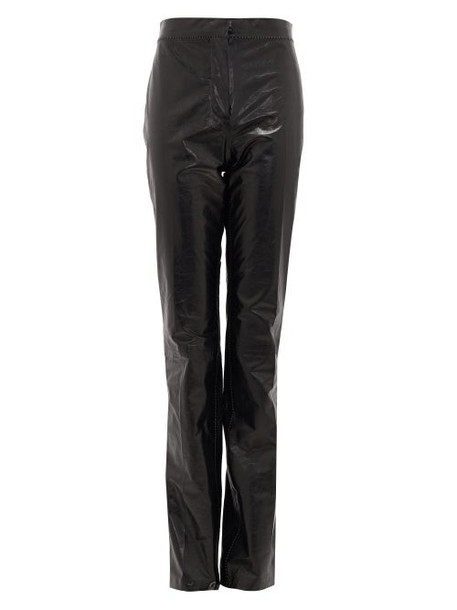 Acne Studios - Leonna High-rise Leather Trousers - Womens - Black