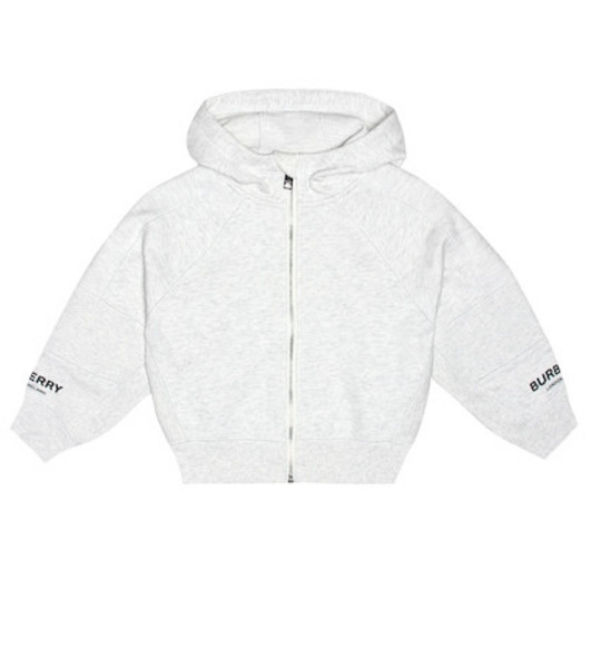 Burberry Kids Cotton hoodie in grey