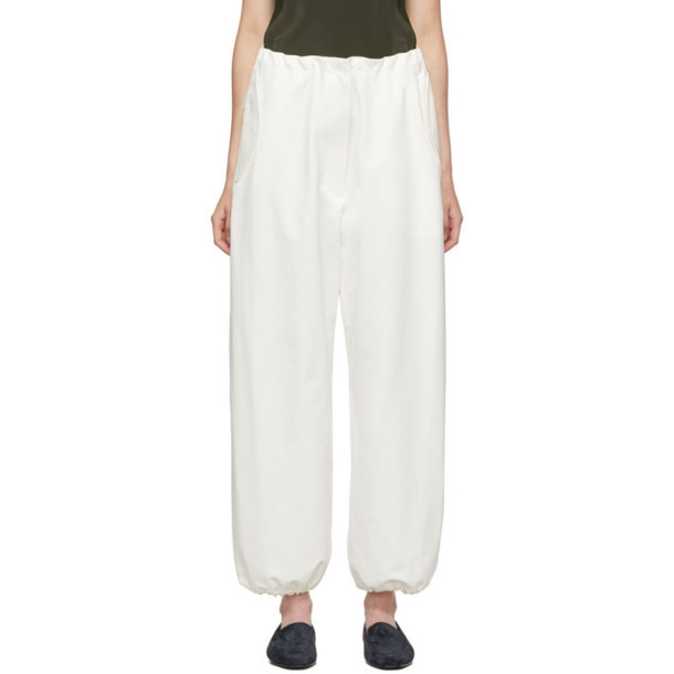 The Row White Attie Trousers