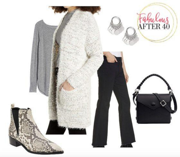 fabulousafter40 blogger sweater jeans