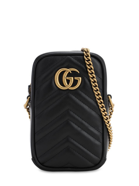 GUCCI Gg Marmont 2.0 Leather Shoulder Bag in black