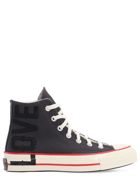 CONVERSE Chuck 70 Love Fearlessly Hi-top Sneakers in gray
