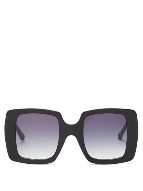 Karen Walker Eyewear - Isadore Oversized Square Acetate Sunglasses - Womens - Black