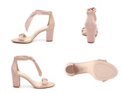shoes,jessica simpson,pink,baby pink,bow,thick heel
