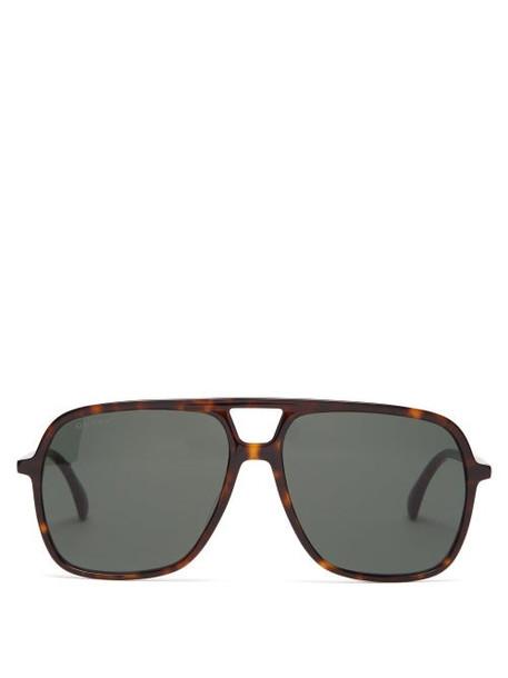 Gucci - Aviator Acetate Sunglasses - Womens - Tortoiseshell
