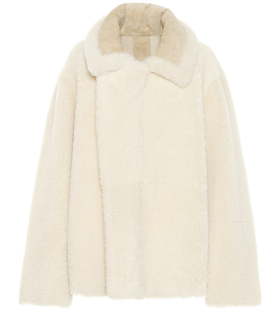 Bottega Veneta Reversible shearling jacket in white