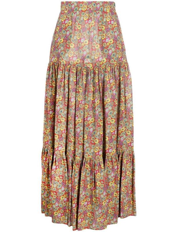 M Missoni floral print maxi skirt in green