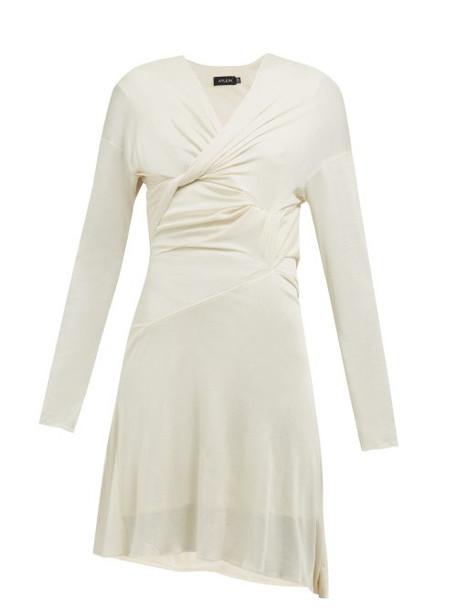 Atlein - Draped Silk Jersey Dress - Womens - Ivory