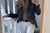 jacket,black,leather jacket,leather,biker jacket,cropped