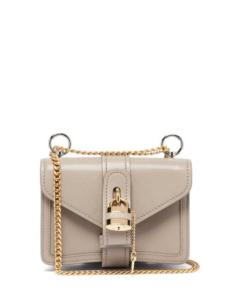 Chloé Chloé - Aby Mini Leather Shoulder Bag - Womens - Grey