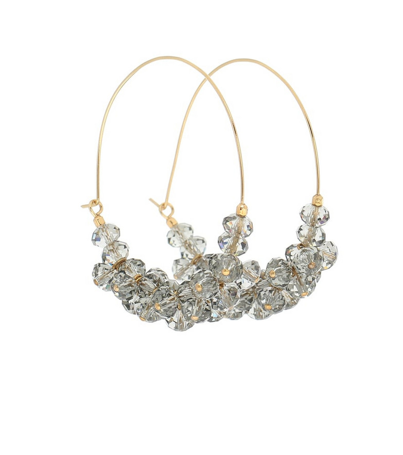 Isabel Marant Polly embellished hoop earrings in gold