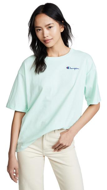 Champion Premium Reverse Weave Crew Neck T-Shirt in green