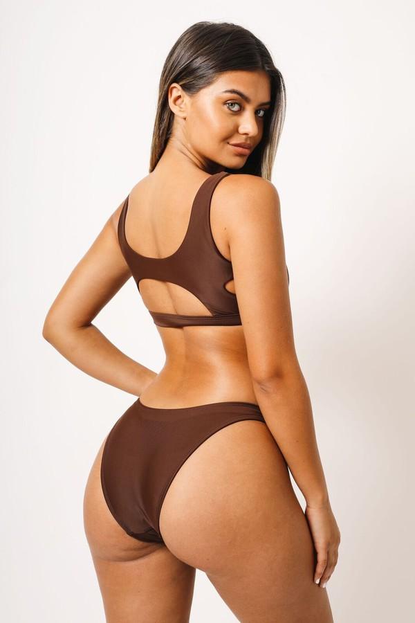 swimwear kaohs swimwear shop ishine365 ishine365 brown bikini full coverage bikini bottom seamless bikini bottom sofia jamora