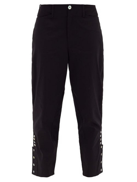 Àcheval Pampa Àcheval Pampa - Al Beso High-rise Cotton-blend Satin Trousers - Womens - Black