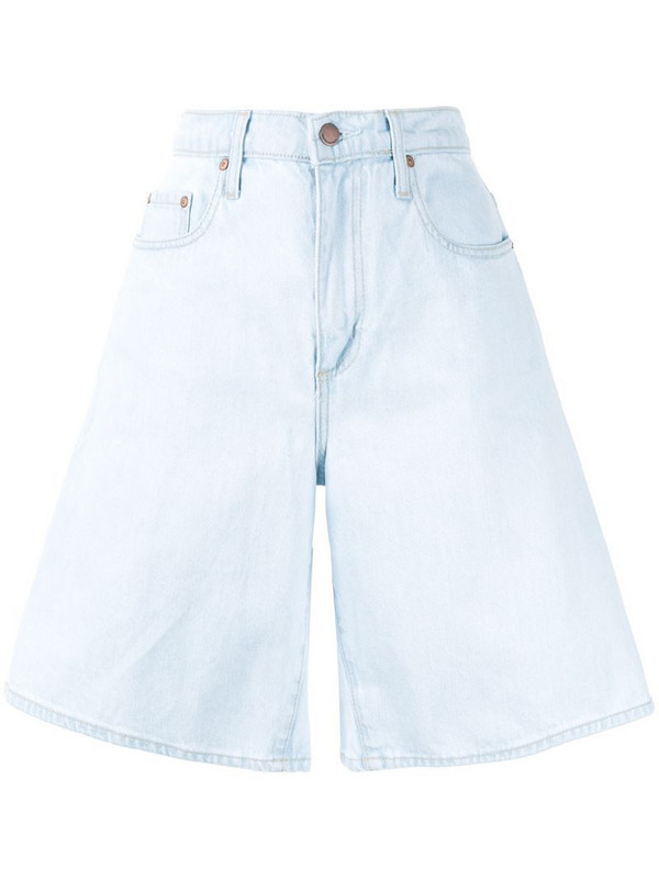 Nobody Denim Tidal high-rise shorts in blue