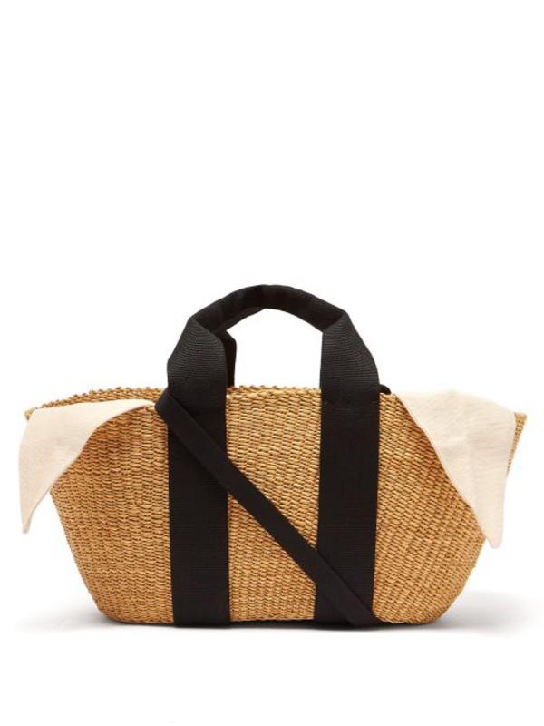 Muuñ Muuñ - George Woven Straw Tote Bag - Womens - Cream
