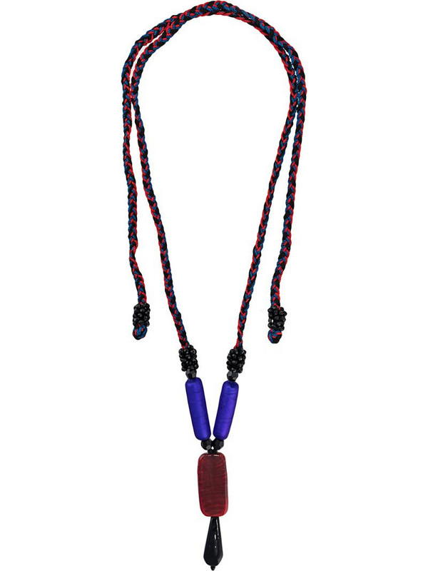 A.N.G.E.L.O. Vintage Cult woven beaded necklace in blue