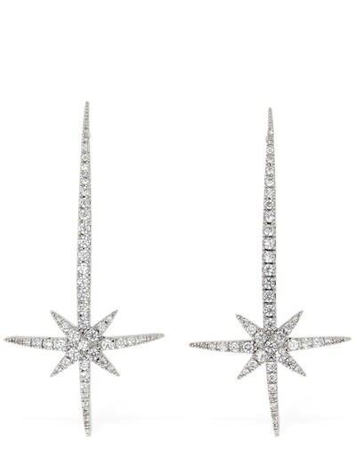 FEDERICA TOSI Comet Crystal Earrings Silver