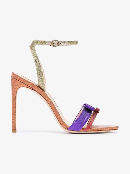 Sophia Webster Andie 100 high-heeled glitter-leather sandals in orange